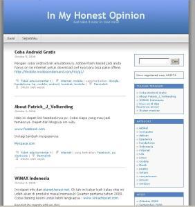 Tampilan Blog yang lama